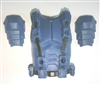 "Male Vest: Armor Type BLUE Version - 1:18 Scale Modular MTF Accessory for 3-3/4"" Action Figures"