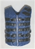 "Male Vest: Tactical Type BLUE Version - 1:18 Scale Modular MTF Accessory for 3-3/4"" Action Figures"