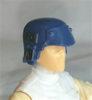 "Headgear: Armor Helmet BLUE Version - 1:18 Scale Modular MTF Accessory for 3-3/4"" Action Figures"