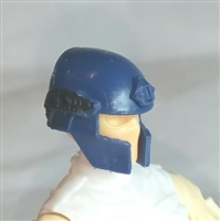"Headgear: Tactical Helmet BLUE Version - 1:18 Scale Modular MTF Accessory for 3-3/4"" Action Figures"