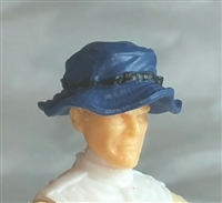 "Headgear: Boonie Hat BLUE Version - 1:18 Scale Modular MTF Accessory for 3-3/4"" Action Figures"