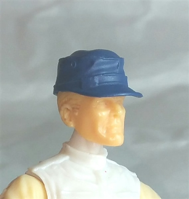 "Headgear: Fatigue Cap BLUE Version - 1:18 Scale Modular MTF Accessory for 3-3/4"" Action Figures"