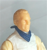 "Headgear: Standard Neck Scarf BLUE Version - 1:18 Scale Modular MTF Accessory for 3-3/4"" Action Figures"