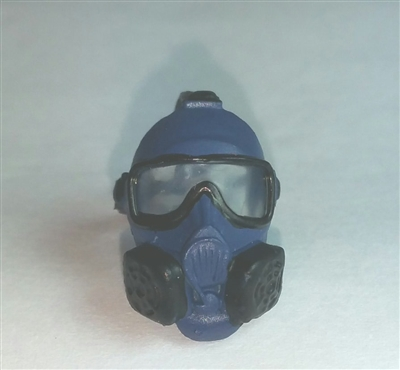 "Headgear: Gasmask BLUE Version - 1:18 Scale Modular MTF Accessory for 3-3/4"" Action Figures"