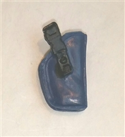 "Pistol Holster: Small  Right Handed BLUE Version - 1:18 Scale Modular MTF Accessory for 3-3/4"" Action Figures"