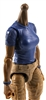 MTF Female Valkyries T-Shirt Torso ONLY (NO WAIST/LEGS): BLUE & BLUE Version with DARK Skin Tone - 1:18 Scale Marauder Task Force Accessory