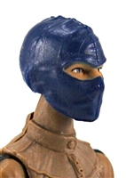 "Female Head: Balaclava Mask BLUE Version - 1:18 Scale MTF Valkyries Accessory for 3-3/4"" Action Figures"