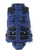 "Female Vest: High Collar Type Blue Version - 1:18 Scale Modular MTF Valkyries Accessory for 3-3/4"" Action Figures"