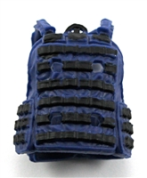 "Female Vest: Utility Type Blue Version - 1:18 Scale Modular MTF Valkyries Accessory for 3-3/4"" Action Figures"