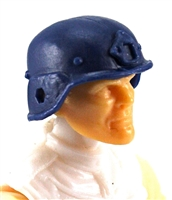 "Headgear: LWH Combat Helmet BLUE Version - 1:18 Scale Modular MTF Accessory for 3-3/4"" Action Figures"