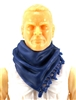 "Headgear: Large Neck Scarf ""Shemagh"" BLUE Version - 1:18 Scale Modular MTF Accessory for 3-3/4"" Action Figures"