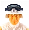 "Headgear: Large Goggles BLUE Version with SMOKE Tint - 1:18 Scale Modular MTF Accessory for 3-3/4"" Action Figures"
