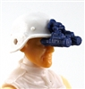 "Headgear: NVG Night Vision Goggles with Plug BLUE Version - 1:18 Scale Modular MTF Accessory for 3-3/4"" Action Figures"