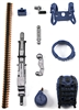 Steady-Cam Gun Gun-Metal DELUXE Set: BLUE & BLACK Version - 1:18 Scale Weapon Set for 3 3/4 Inch Action Figures