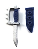 "Knuckle Knife with Sheath: Small Size BLUE Version - 1:18 Scale Modular MTF Accessory for 3-3/4"" Action Figures"