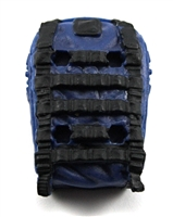 "Backpack: Modular Backpack BLUE & BLACK Version - 1:18 Scale Modular MTF Accessory for 3-3/4"" Action Figures"