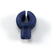 """C-Clip"" Universal Modular Mounting Peg: BLUE Version - 1:18 Scale MTF Accessory for 3 3/4 Inch Action Figures"