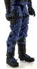"Male Legs: BLUE Cloth Legs (NO Armor) -  Right AND Left Pair-NO WAIST-LEGS ONLY  - 1:18 Scale MTF Accessory for 3-3/4"" Action Figures"
