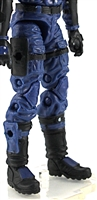 "Male Legs WITH Waist: Blue Cloth Legs (NO Armor) - Right AND Left Legs WITH Waist - 1:18 Scale MTF Accessory for 3-3/4"" Action Figures"