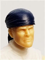 "Headgear: ""Bandana"" Head Cover BLUE Version - 1:18 Scale Modular MTF Accessory for 3-3/4"" Action Figures"