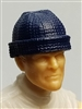 "Headgear: Knit Cap ""Ski Cap"" BLUE Version - 1:18 Scale Modular MTF Accessory for 3-3/4"" Action Figures"