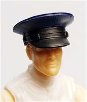 "Headgear: Officer Cap ""Dress Hat"" BLUE Version - 1:18 Scale Modular MTF Accessory for 3-3/4"" Action Figures"