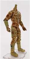 "MTF Male Trooper Body WITHOUT Head TAN Camo ""Desert-Ops"" CLOTH Legs (No Leg Armor) - 1:18 Scale Marauder Task Force Action Figure"
