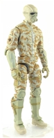 "MTF Male Trooper with Masked Goggles & Breather Head TAN Camo ""Desert-Ops"" Version BASIC - 1:18 Scale Marauder Task Force Action Figure"