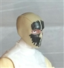 "Male Head: Balaclava TAN Mask with Black ""SPLIT SKULL"" Deco - 1:18 Scale MTF Accessory for 3-3/4"" Action Figures"
