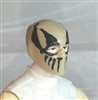 "Male Head: Balaclava TAN Mask with Black ""FANG"" Deco - 1:18 Scale MTF Accessory for 3-3/4"" Action Figures"