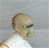 "Male Head: Mask with Goggles & Breather TAN & Tan Version - 1:18 Scale MTF Accessory for 3-3/4"" Action Figures"