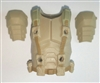 "Male Vest: Armor Type TAN & Tan Version - 1:18 Scale Modular MTF Accessory for 3-3/4"" Action Figures"