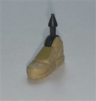 "Male Footwear: Right Tan Boot with Tan Armor - 1:18 Scale MTF Accessory for 3-3/4"" Action Figures"