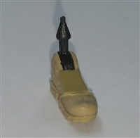 "Male Footwear: Left Tan Boot with Tan Armor - 1:18 Scale MTF Accessory for 3-3/4"" Action Figures"
