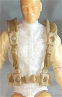 "Male Vest: Harness Rig TAN & Tan Version - 1:18 Scale Modular MTF Accessory for 3-3/4"" Action Figures"