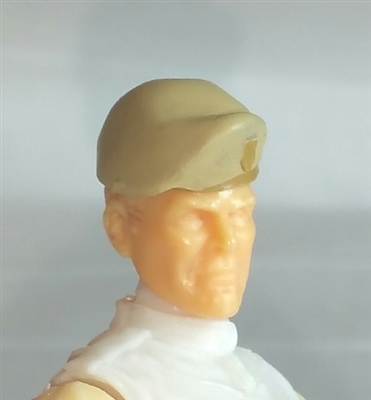 "Headgear: Beret TAN & Tan Version - 1:18 Scale Modular MTF Accessory for 3-3/4"" Action Figures"