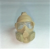 "Headgear: Gasmask TAN Version - 1:18 Scale Modular MTF Accessory for 3-3/4"" Action Figures"