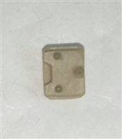 "Armor Panel: Small Size TAN Version - 1:18 Scale Modular MTF Accessory for 3-3/4"" Action Figures"