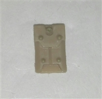 "Armor Panel: Large Size TAN Version - 1:18 Scale Modular MTF Accessory for 3-3/4"" Action Figures"
