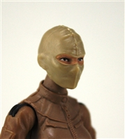 "Female Head: Balaclava Mask TAN Version - 1:18 Scale MTF Valkyries Accessory for 3-3/4"" Action Figures"