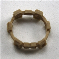 "Web Belt: TAN Version - 1:18 Scale Modular MTF Accessory for 3-3/4"" Action Figures"