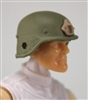"Headgear: LWH Combat Helmet TAN Version - 1:18 Scale Modular MTF Accessory for 3-3/4"" Action Figures"