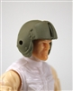 "Headgear: Tan Flight Helmet - 1:18 Scale Modular MTF Accessory for 3-3/4"" Action Figures"