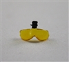 "Headgear: Visor for Flight Helmet: YELLOW - 1:18 Scale Modular MTF Accessory for 3-3/4"" Action Figures"