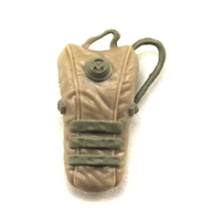 "Camel Hydration Pack: TAN & TAN Version - 1:18 Scale Modular MTF Accessory for 3-3/4"" Action Figures"