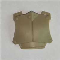 "Armor Chest Plate: TAN Version - 1:18 Scale Modular MTF Accessory for 3-3/4"" Action Figures"