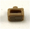 "MOUNT for Ammo Belt: TAN Version - 1:18 Scale Modular MTF Accessory for 3-3/4"" Action Figures"