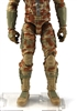 "Male Legs: Tan Camo Cloth Legs (NO Armor) -  Right AND Left Pair-NO WAIST-LEGS ONLY  - 1:18 Scale MTF Accessory for 3-3/4"" Action Figures"