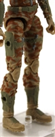 "Female Legs WITH Waist: TAN CAMO Legs  - Right AND Left Legs WITH Waist - 1:18 Scale MTF Valkyries Accessory for 3-3/4"" Action Figures"