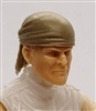 "Headgear: ""Bandana"" Head Cover TAN Version - 1:18 Scale Modular MTF Accessory for 3-3/4"" Action Figures"